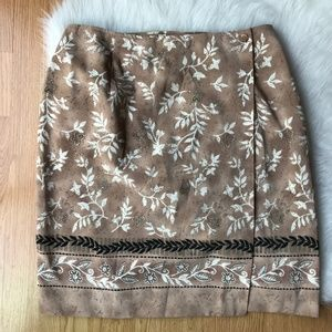 Worthington Womens 12 Skirt Wrap Tan Floral